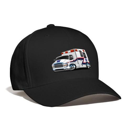 Paramedic EMT Ambulance Rescue Truck Cartoon - Baseball Cap
