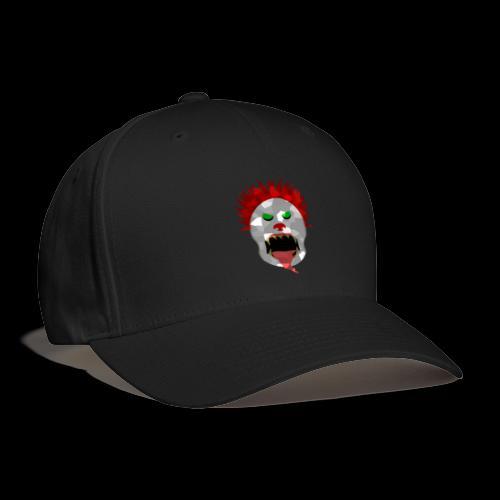 creepy clown Halloween design - Baseball Cap