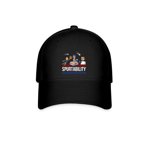 Spurtability White Text - Baseball Cap