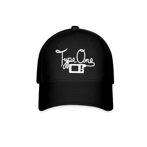 Type One - Insulin Pump 2- White - Baseball Cap