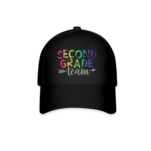 Second Grade Team Teacher T-Shirts Rainbow - Baseball Cap