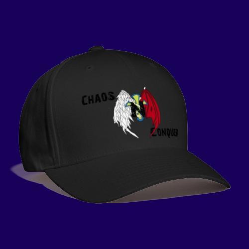 ChaosNConquer Design Logo with Steampunk Girl - Baseball Cap