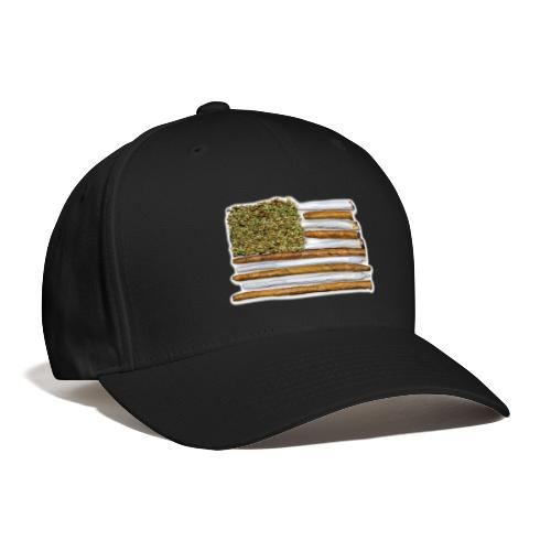 American Flag With Joint - Baseball Cap
