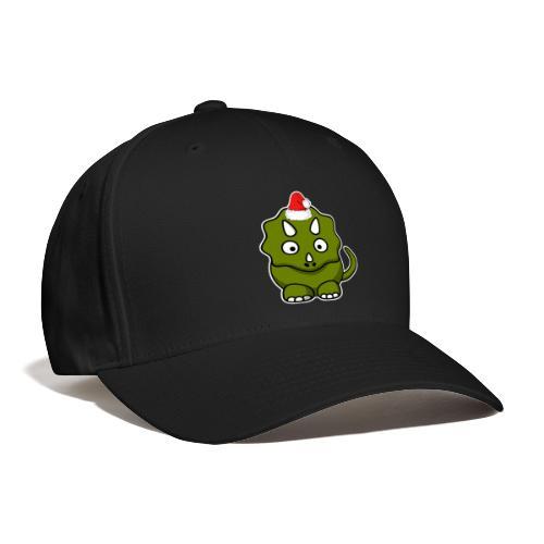Happy Holidays Triceratops - Baseball Cap