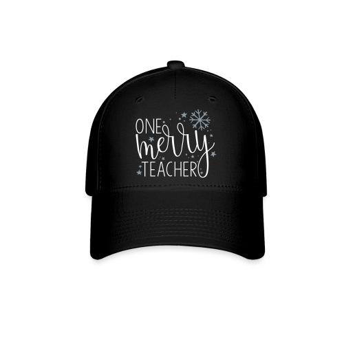 One Merry Teacher Christmas Teacher T-Shirt - Baseball Cap