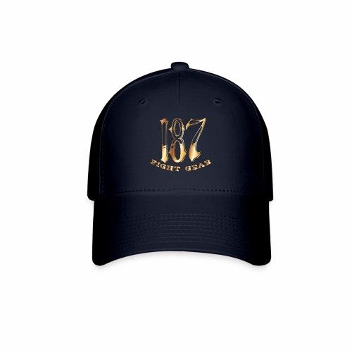 187 Fight Gear Gold Logo Street Wear - Baseball Cap