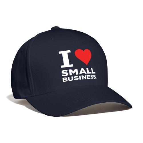 I Heart Small Business Logo (Red & White) - Baseball Cap