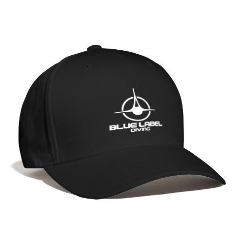 BLD logo with text white - Baseball Cap