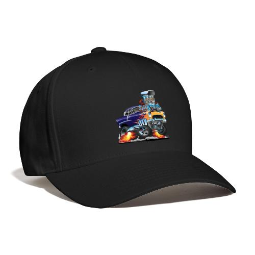 Classic Fifties Hot Rod Muscle Car Cartoon - Baseball Cap