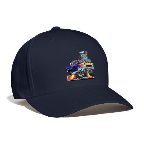 Classic Fifties Hot Rod Muscle Car Cartoon - Baseball Cap