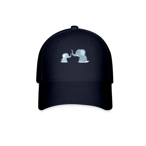 Father and Baby Son Elephant - Baseball Cap