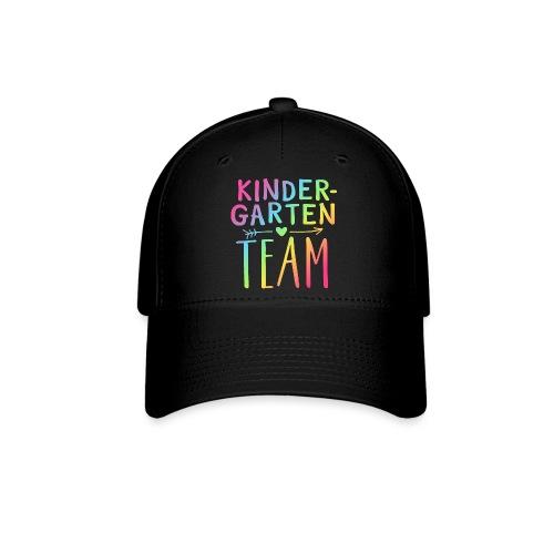 Kindergarten Team Neon Rainbow Teacher T-Shirts - Baseball Cap