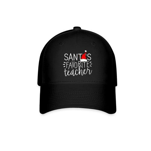 Santa's Favorite Teacher Christmas Teacher T-Shirt - Baseball Cap