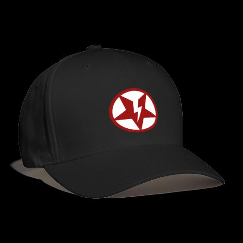 DEAD@17 Broken Pentagram - Red on White - Baseball Cap