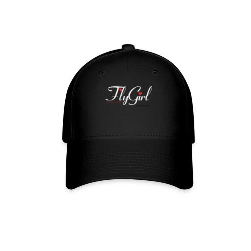 FlyGirlTextWhite W Black png - Baseball Cap