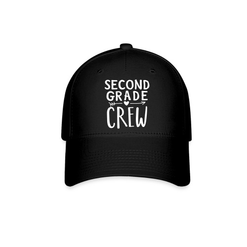Second Grade Crew Heart Teacher T-Shirts - Baseball Cap