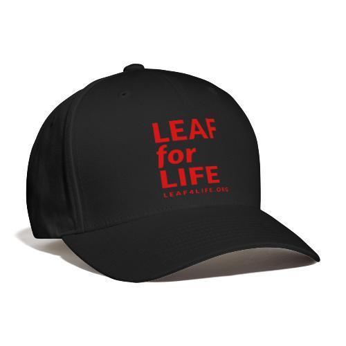 leaf4life logo red - Baseball Cap