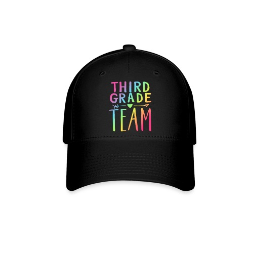 Third Grade Team Neon Rainbow Teacher T-Shirts - Baseball Cap