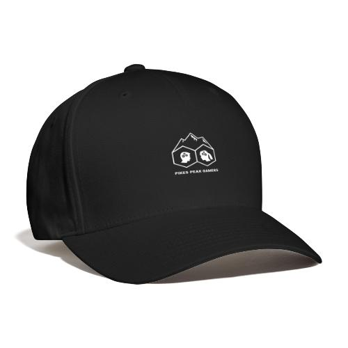 Pikes Peak Gamers Logo (Transparent White) - Baseball Cap