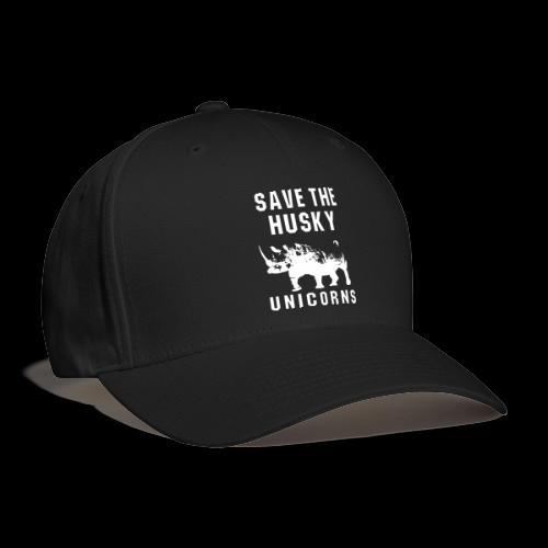 Save the Husky Unicorns   Funny Rhino - Baseball Cap