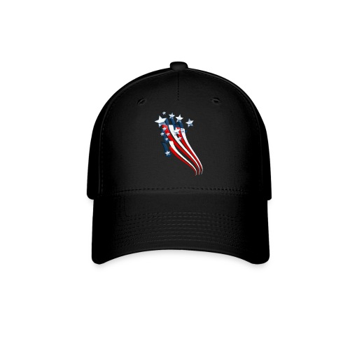 Sweeping American Flag - Baseball Cap