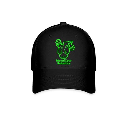 MetalCowLogo GreenOutline - Baseball Cap