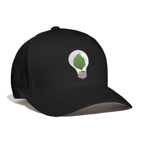 Clean Energy Green Leaf Illustration - Baseball Cap