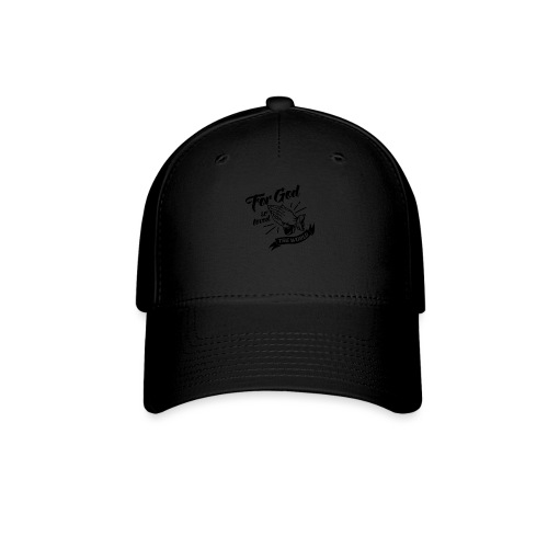 For God So Loved The World… - Alt. Design (Black) - Baseball Cap