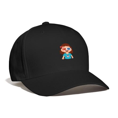Girl red blue 3D glasses doing Vision Therapy - Baseball Cap
