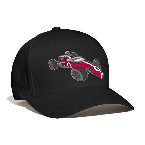 Red racing car, racecar, sportscar - Baseball Cap