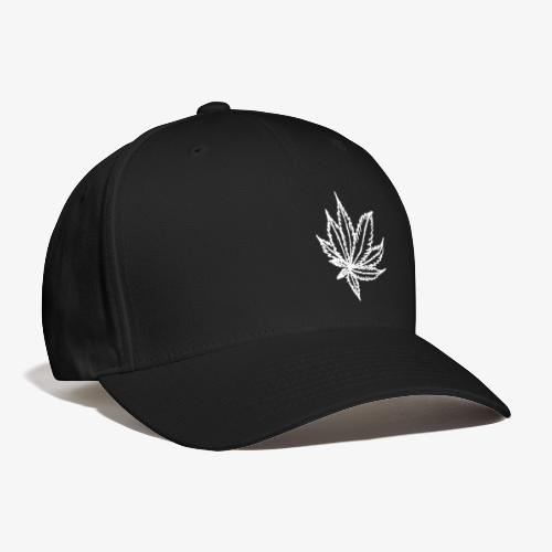 white leaf - Baseball Cap