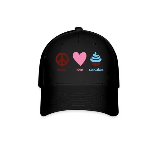 peacelovecupcakes pixel - Baseball Cap