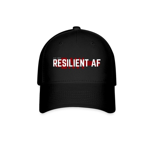 RESILIENT WHITE with red - Baseball Cap