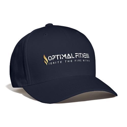 white logo, keep calm and hiit it white - Baseball Cap