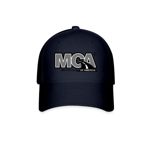 MCA Logo WBG Transparent BLACK WHITE TITLEfw fw pn - Baseball Cap