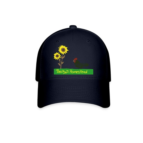 Chicken and Sunflowers - Baseball Cap