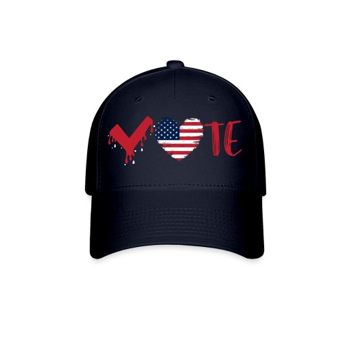 vote heart red - Baseball Cap