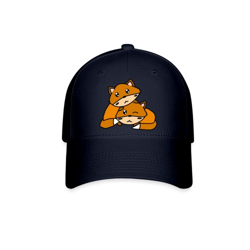 Cute Foxes Hugging - Baseball Cap