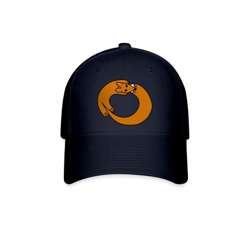 Fox Curled Up in a Circle - Baseball Cap
