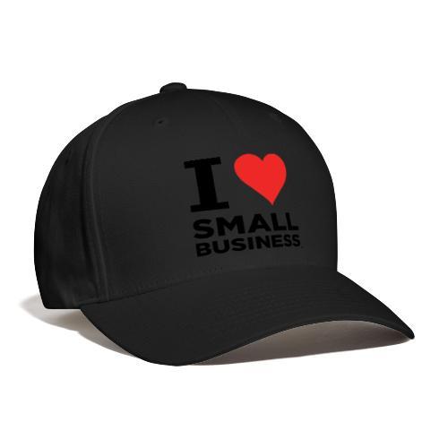 I Heart Small Business (Black & Red) - Baseball Cap