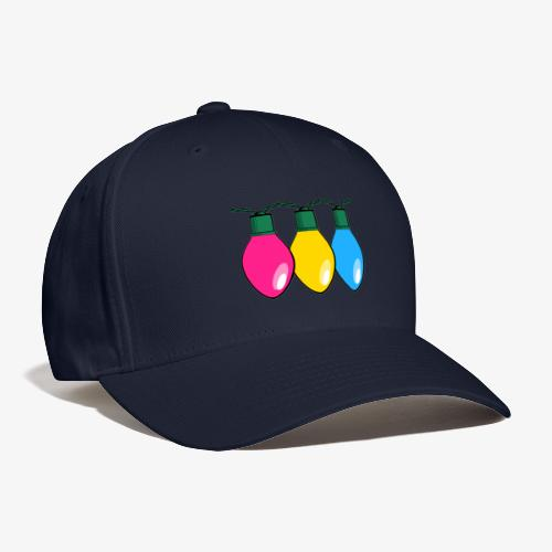 Pansexual Pride Christmas Lights - Baseball Cap