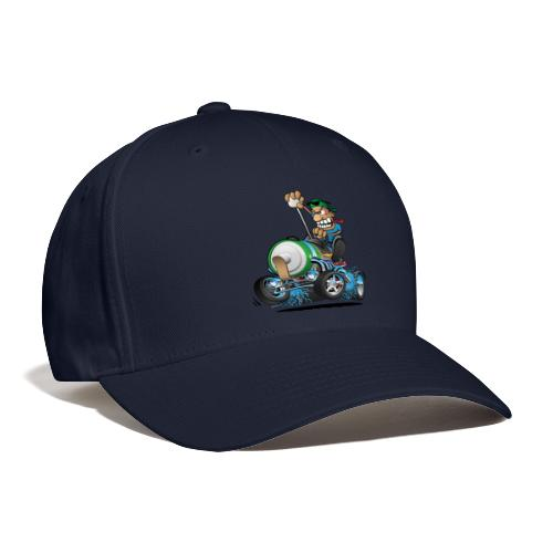 Hot Rod Electric Car Cartoon - Baseball Cap