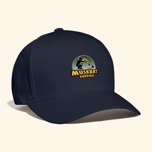 Muskrat round logo - Baseball Cap