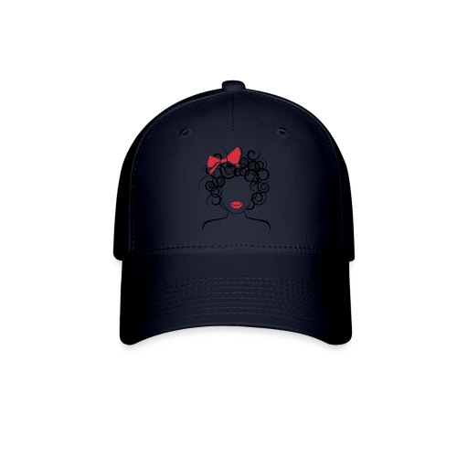 Curly Girl with Red Bow_Global Couture_logo T-Shir - Baseball Cap