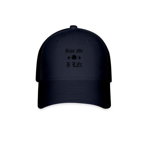 Kiss Me I Lift (old english, black) - Baseball Cap