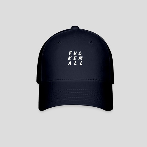 FUCKEMALL White Logo - Baseball Cap