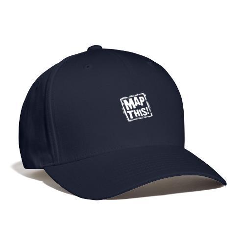 MapThis! White Stamp Logo - Baseball Cap
