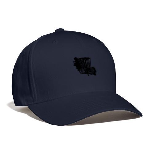 Disc Golf Basket Paint Black Print - Baseball Cap