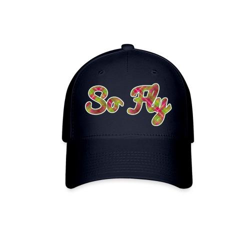 So Fly Pink and Green Plaid - Baseball Cap