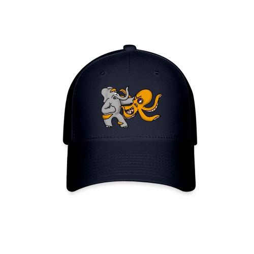 Elephant vs. Octopus Mug - Baseball Cap